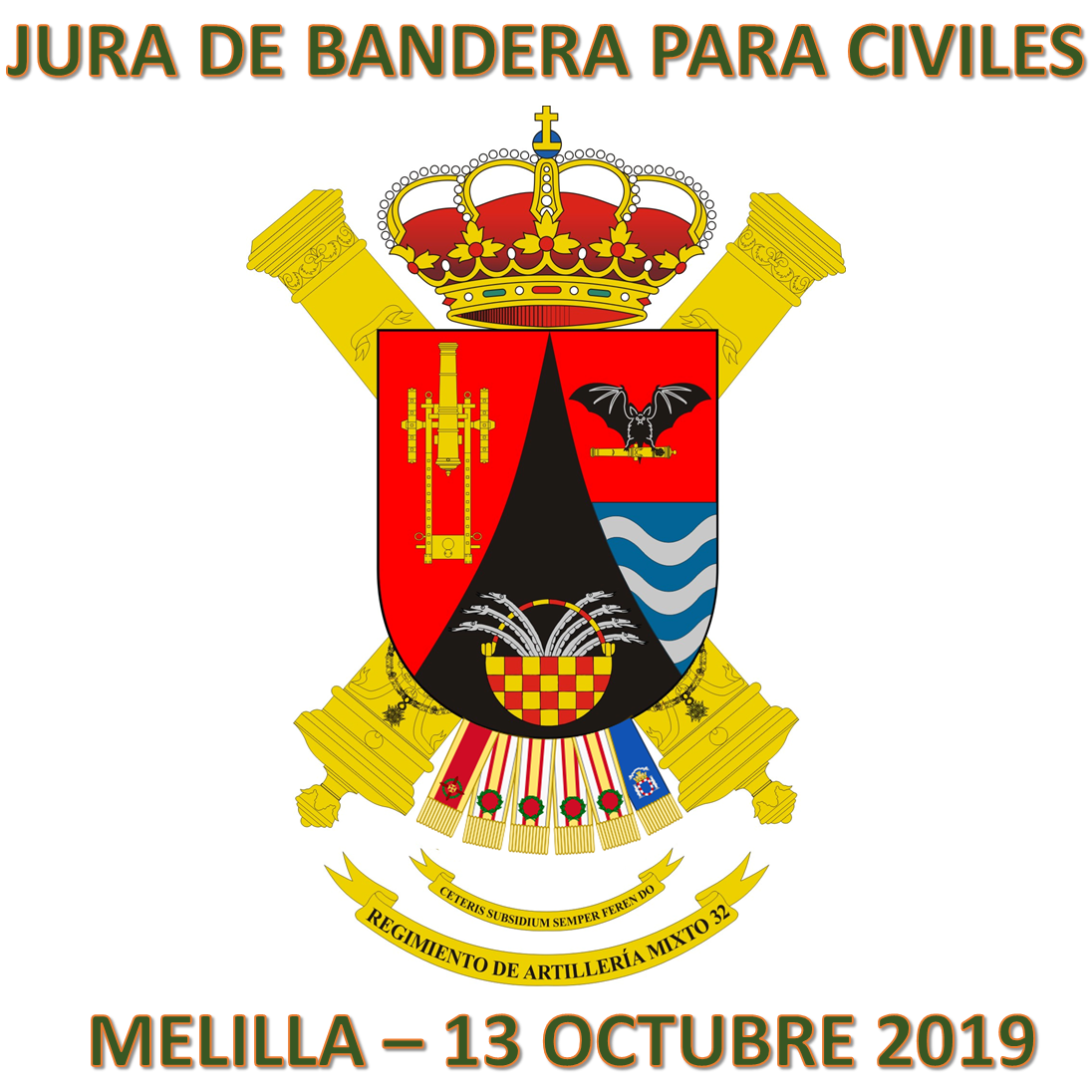 VIAJE A MELILLA PARA ASISTIR A LA JURA DE BANDERA DEL REGIMIENTO MIXTO DE ARTILLERÍA 32