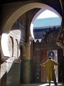 Entrada de la Mezquita de la medina de FEZ