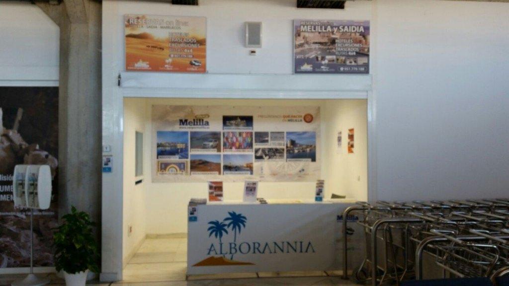 Melilla Oficina Alborannia - venpormelilla.com en el aeropuerto de Melilla